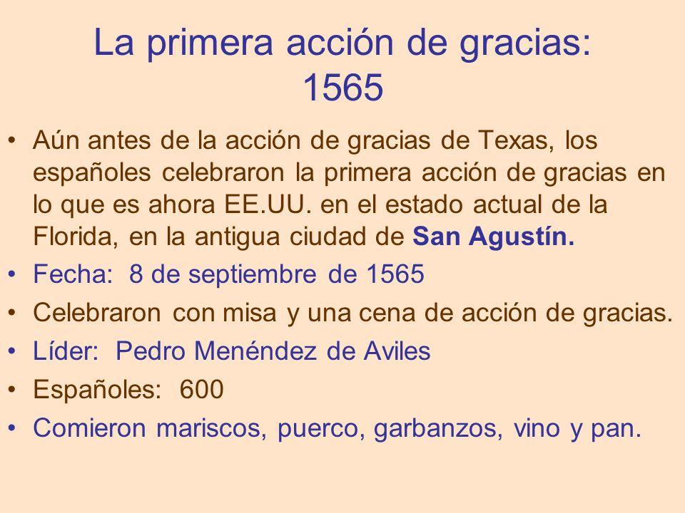 La primera acción de gracias: 1565