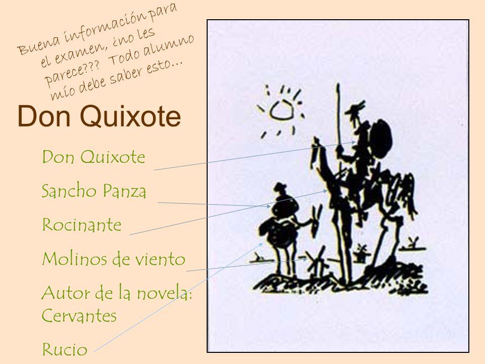 Don Quixote Don Quixote Sancho Panza Rocinante Molinos de viento