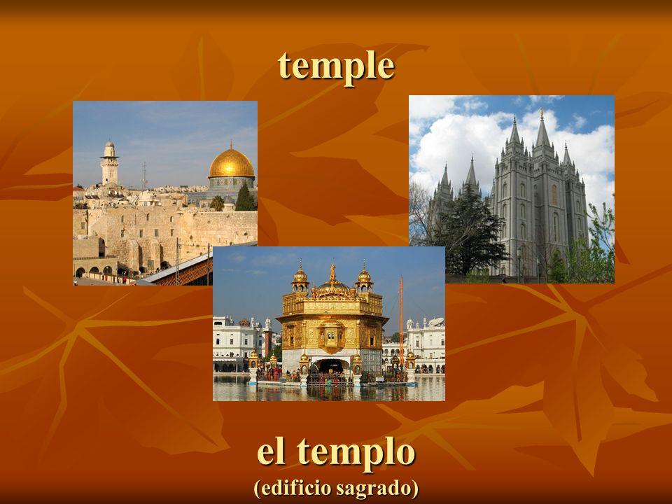 el templo (edificio sagrado)