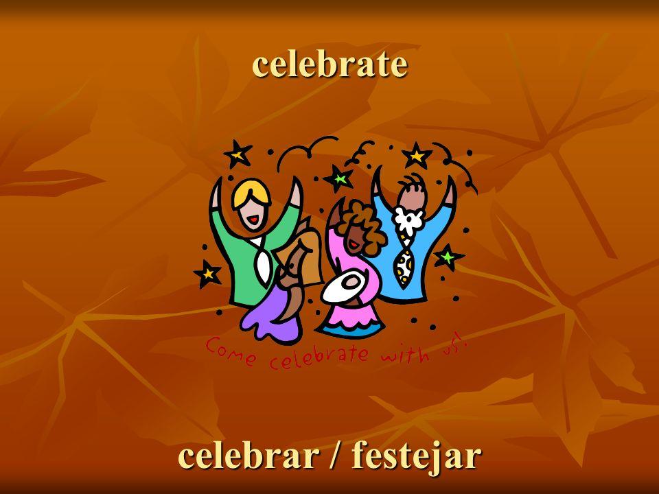 celebrate celebrar / festejar