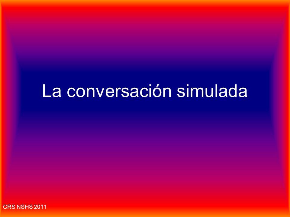 La conversación simulada