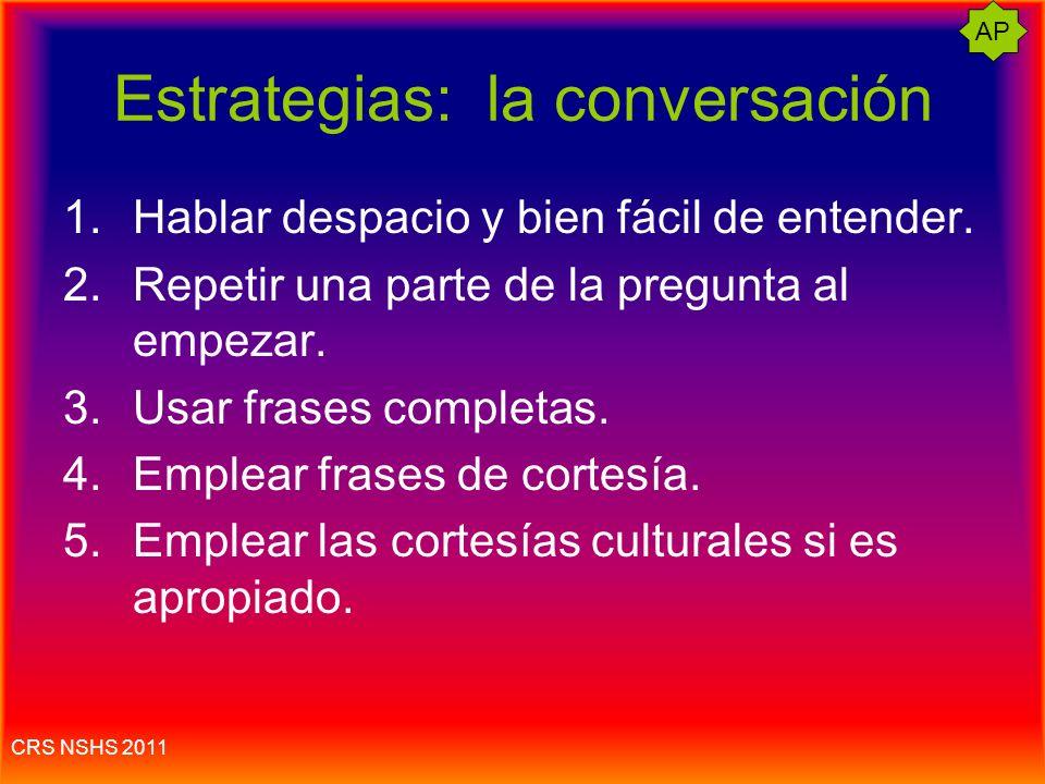 Estrategias: la conversación