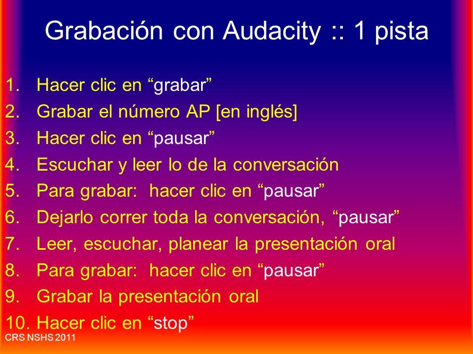 Grabación con Audacity :: 1 pista