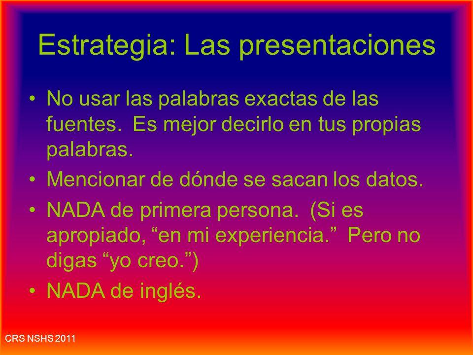 Estrategia: Las presentaciones