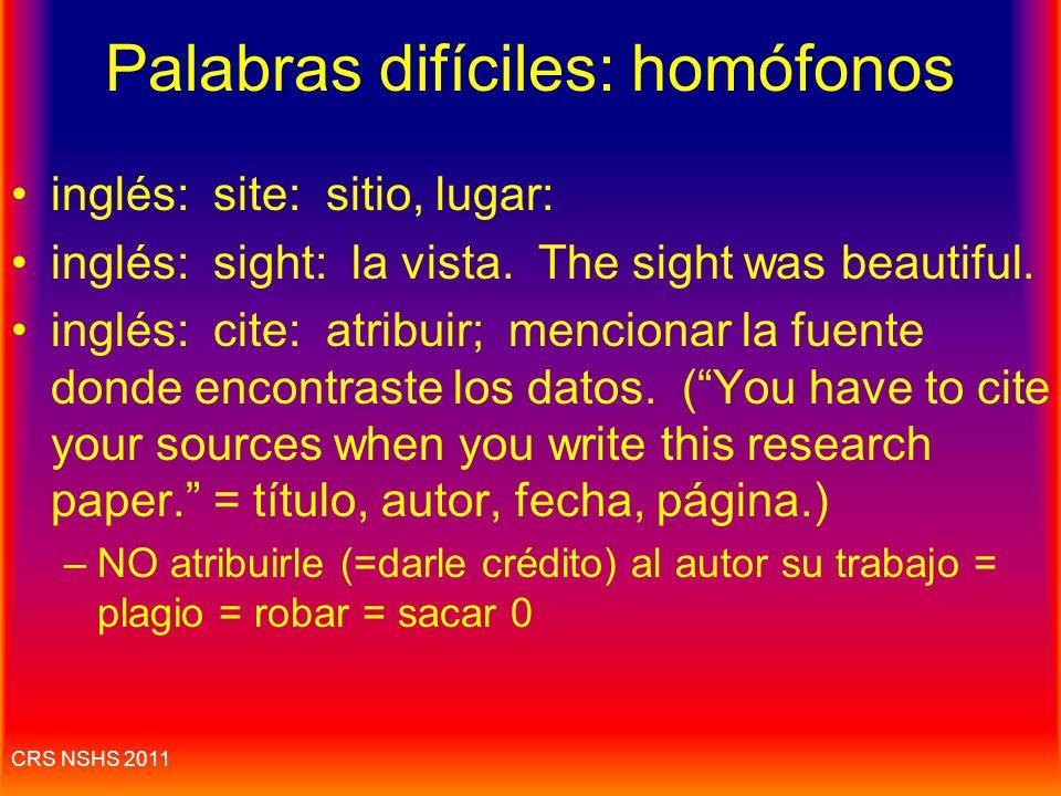 Palabras difíciles: homófonos