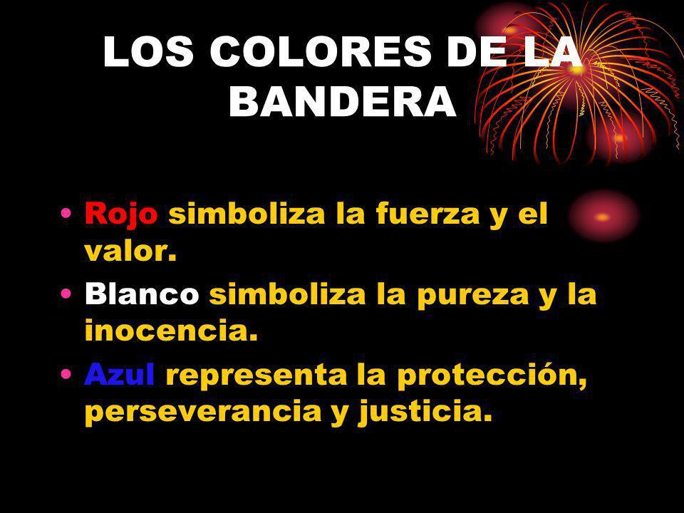 LOS COLORES DE LA BANDERA
