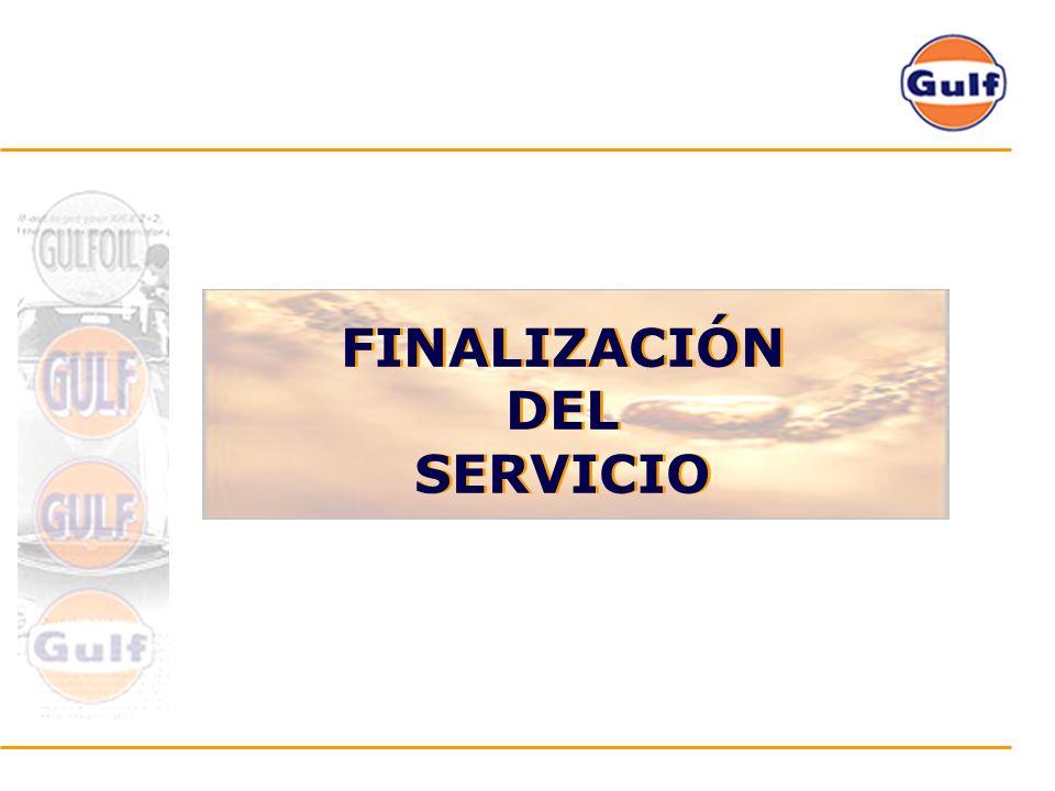 FINALIZACIÓN DEL SERVICIO