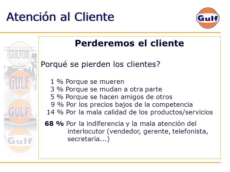 Atención al Cliente Perderemos el cliente