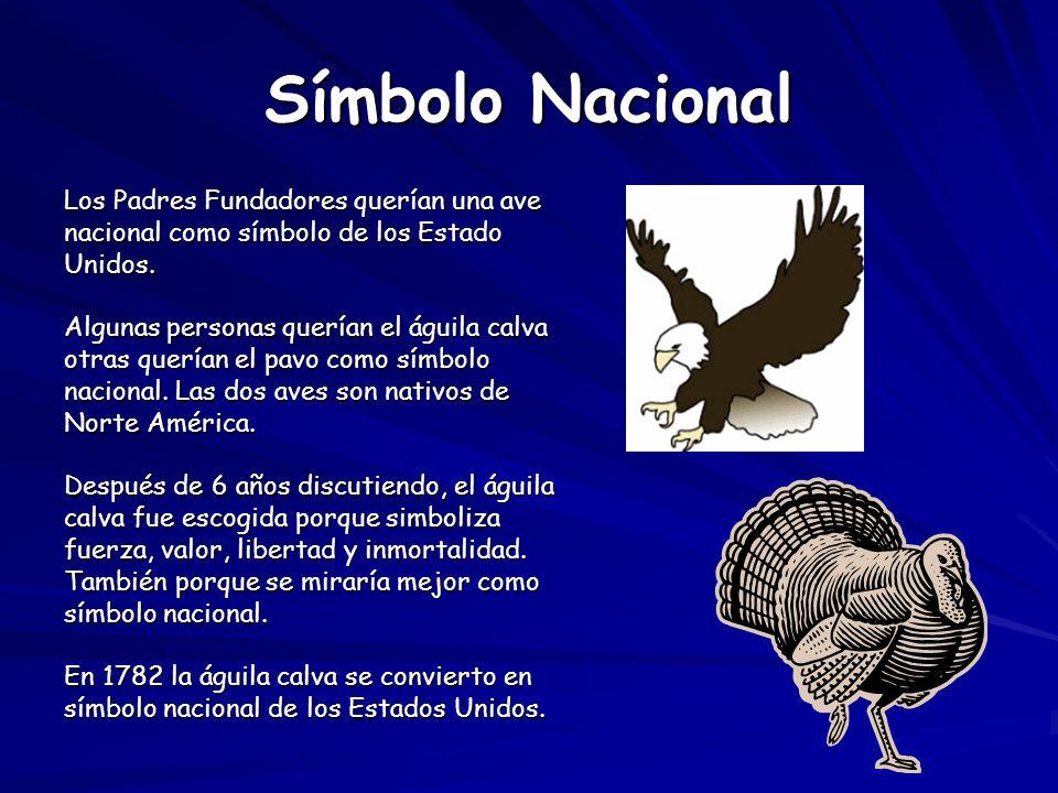 Símbolo Nacional Los Padres Fundadores querían una ave
