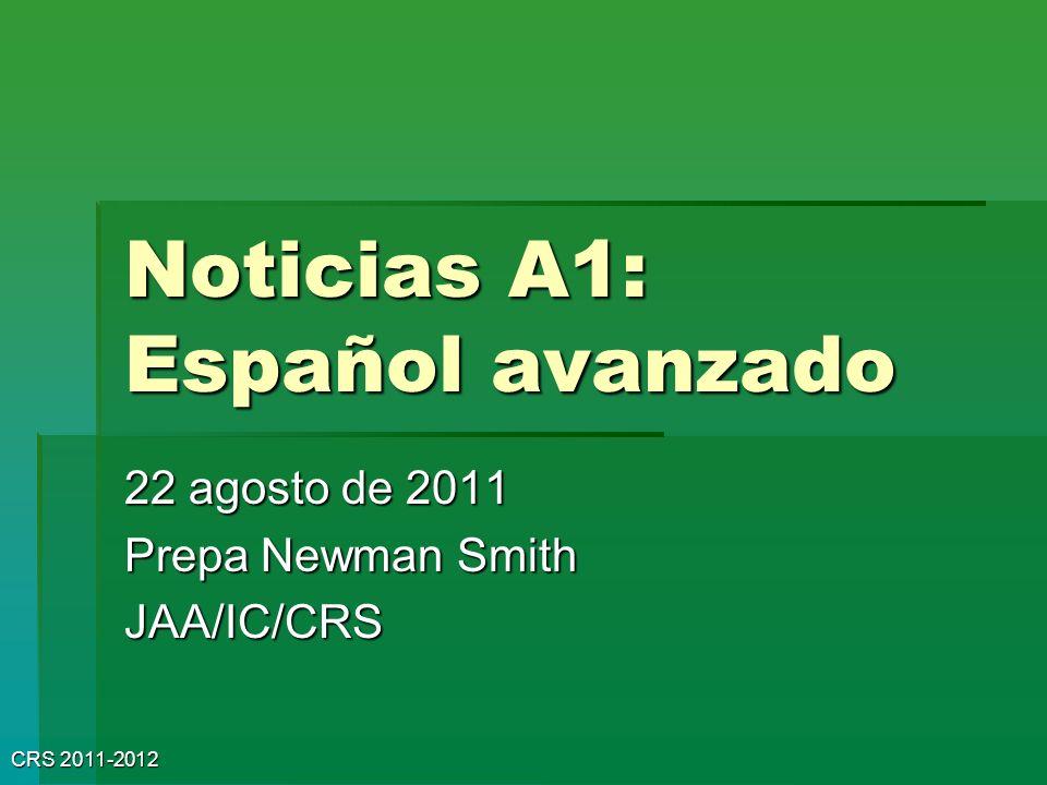 Noticias A1: Español avanzado