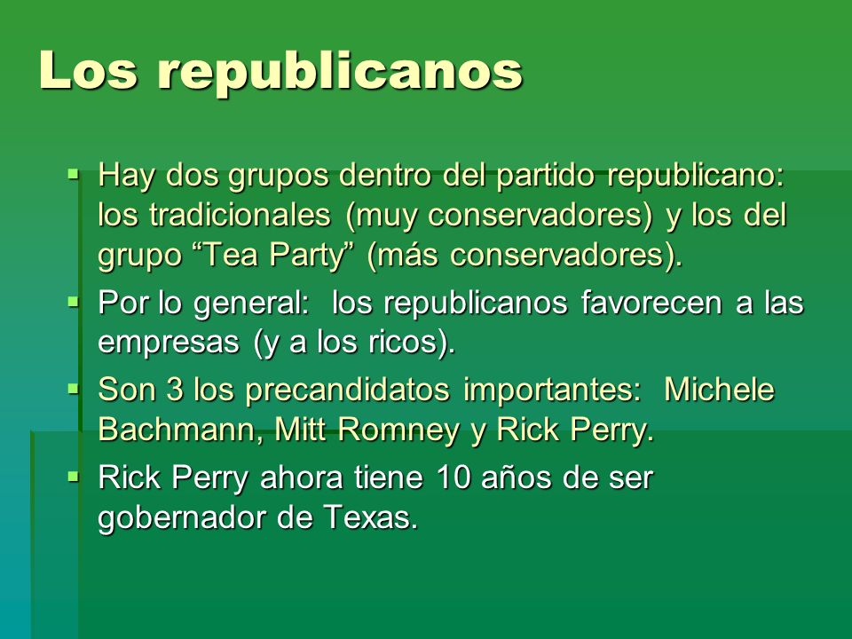 Los republicanos