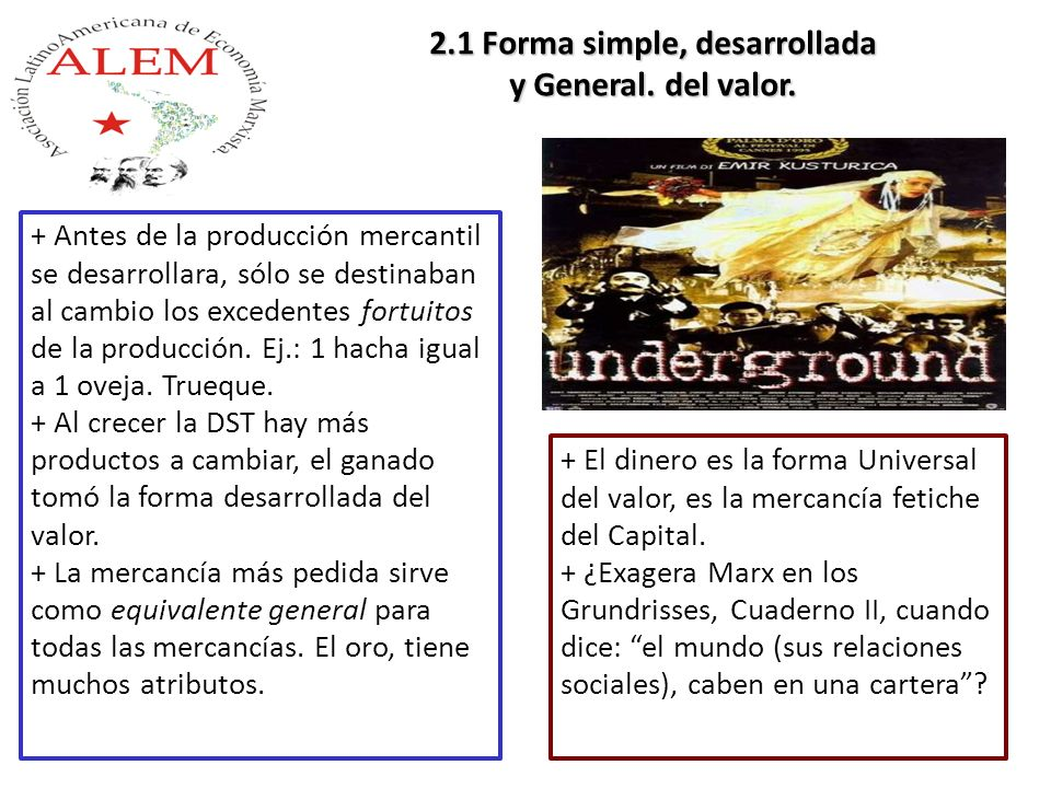 2.1 Forma simple, desarrollada