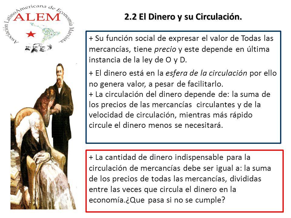 2.2 El Dinero y su Circulación.