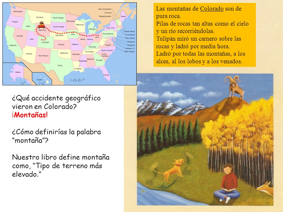 ¿Qué accidente geográfico vieron en Colorado ¡Montañas!