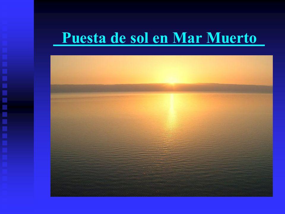 Puesta de sol en Mar Muerto