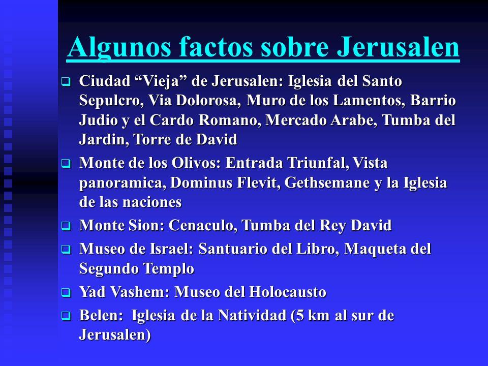 Algunos factos sobre Jerusalen