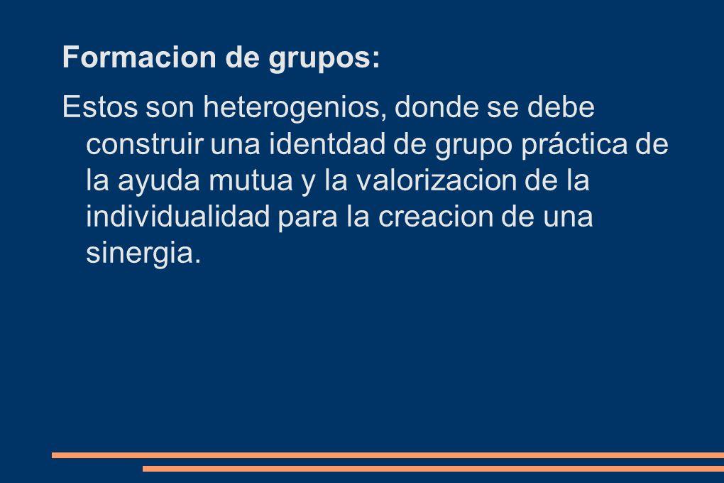 Formacion de grupos: