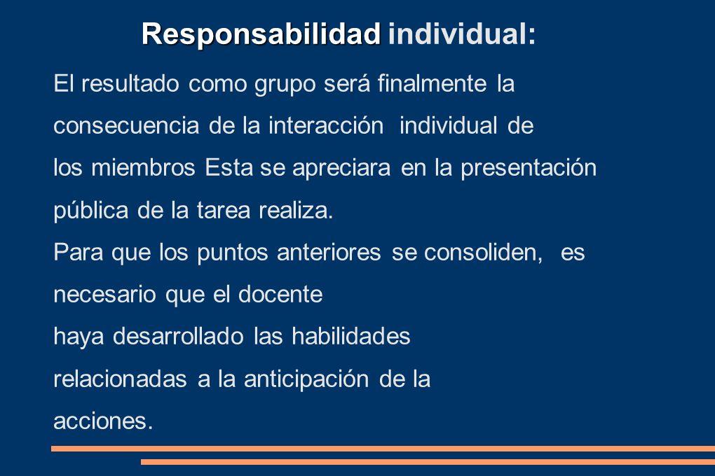 Responsabilidad individual: