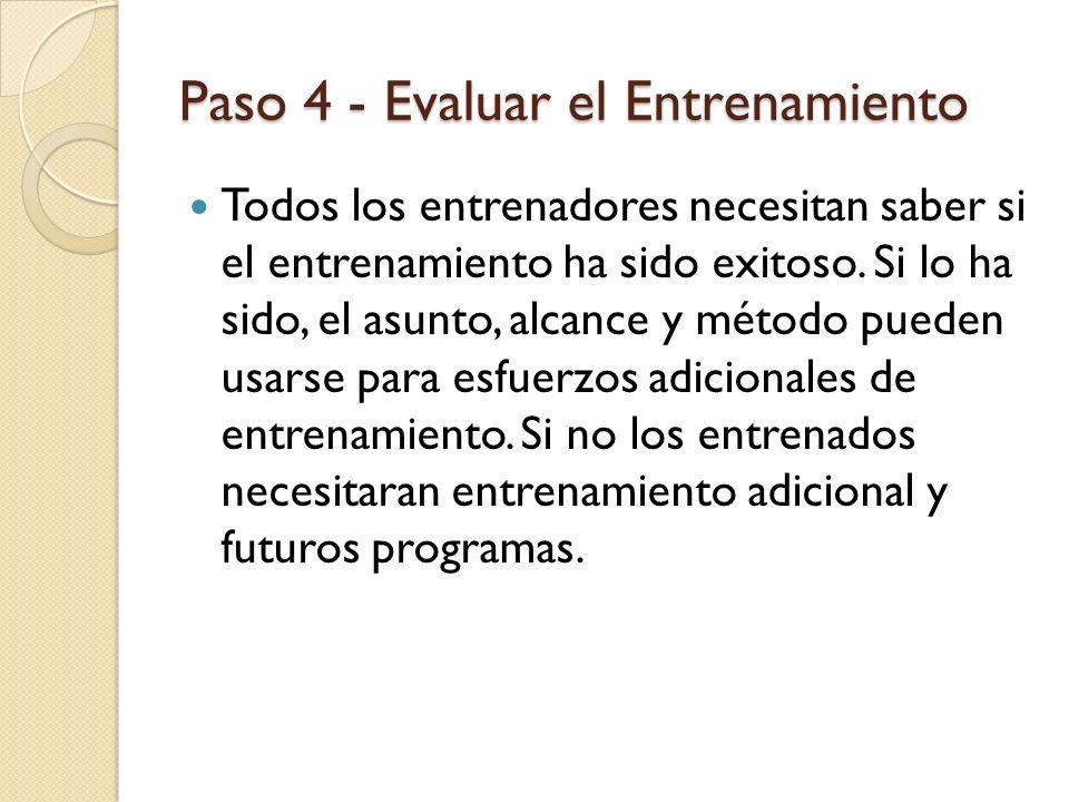Paso 4 - Evaluar el Entrenamiento