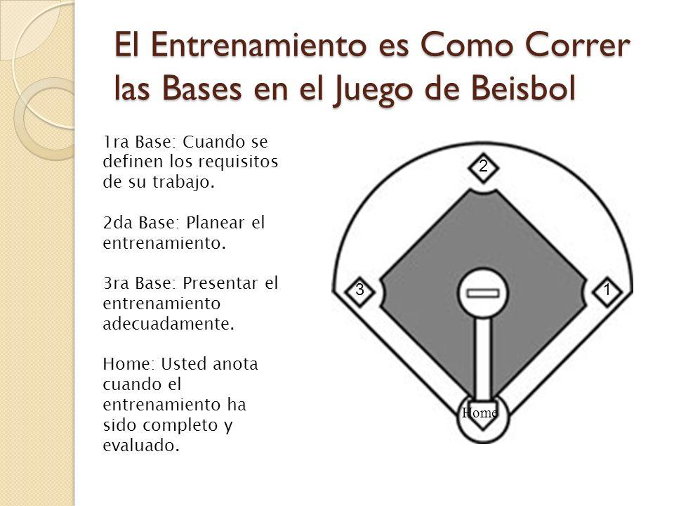 El Entrenamiento es Como Correr las Bases en el Juego de Beisbol