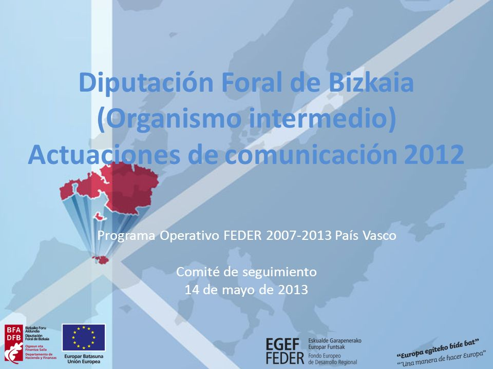 Programa Operativo FEDER 2007-2013 País Vasco