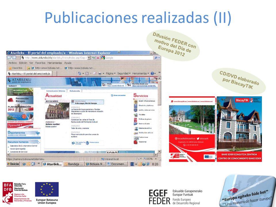 Publicaciones realizadas (II)