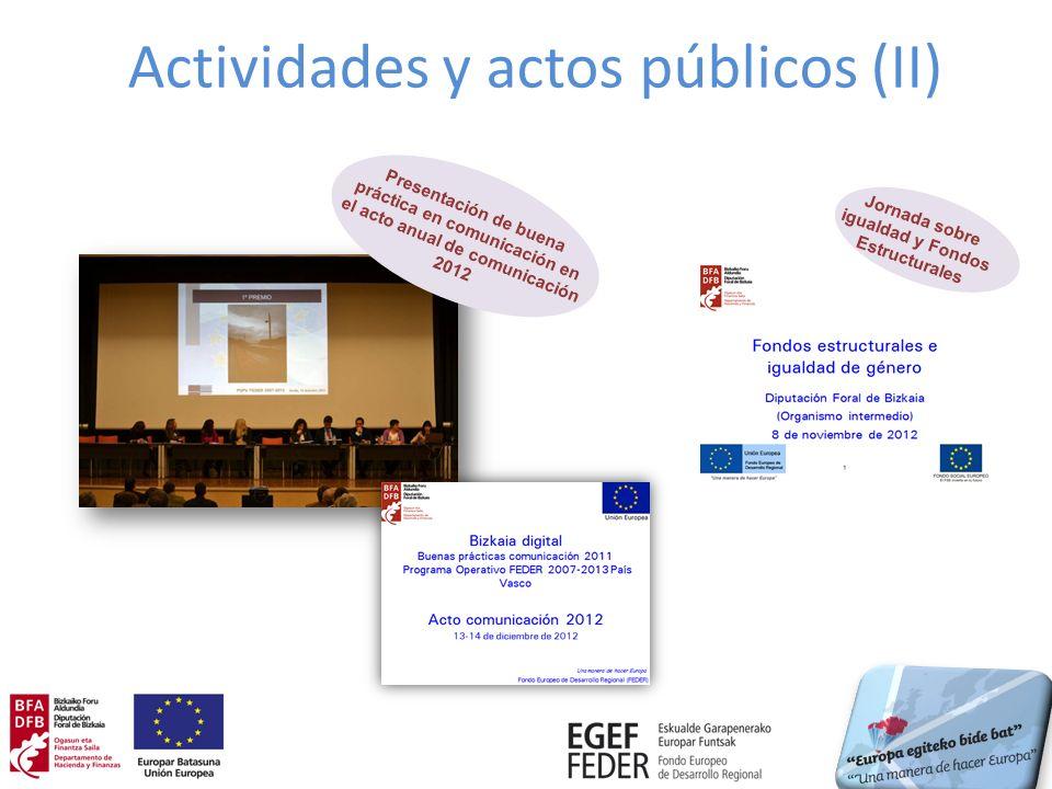 Actividades y actos públicos (II)