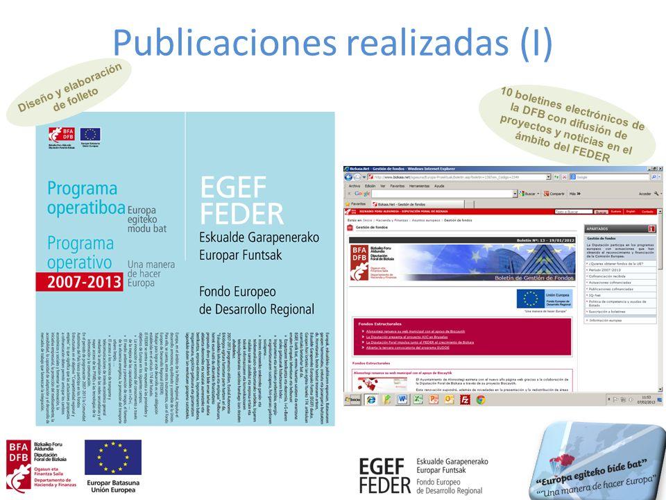 Publicaciones realizadas (I)