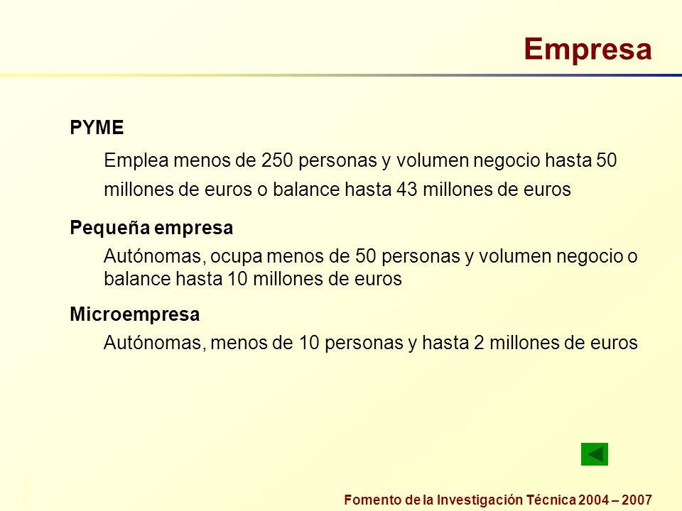 Empresa PYME. Emplea menos de 250 personas y volumen negocio hasta 50 millones de euros o balance hasta 43 millones de euros.