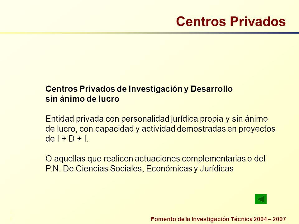 Centros Privados Centros Privados de Investigación y Desarrollo