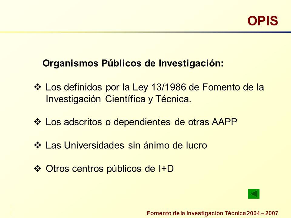 OPIS Organismos Públicos de Investigación: