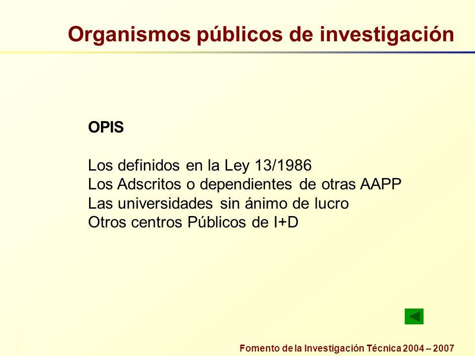 Organismos públicos de investigación