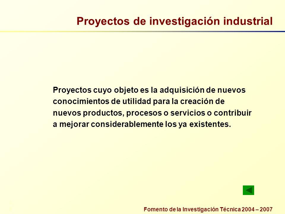 Proyectos de investigación industrial