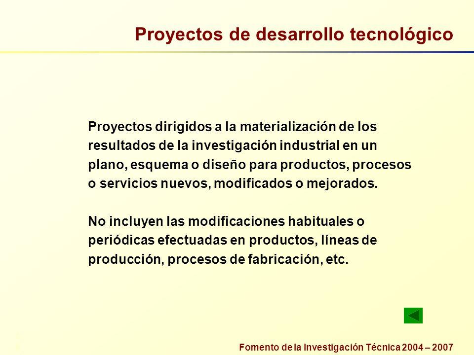Proyectos de desarrollo tecnológico