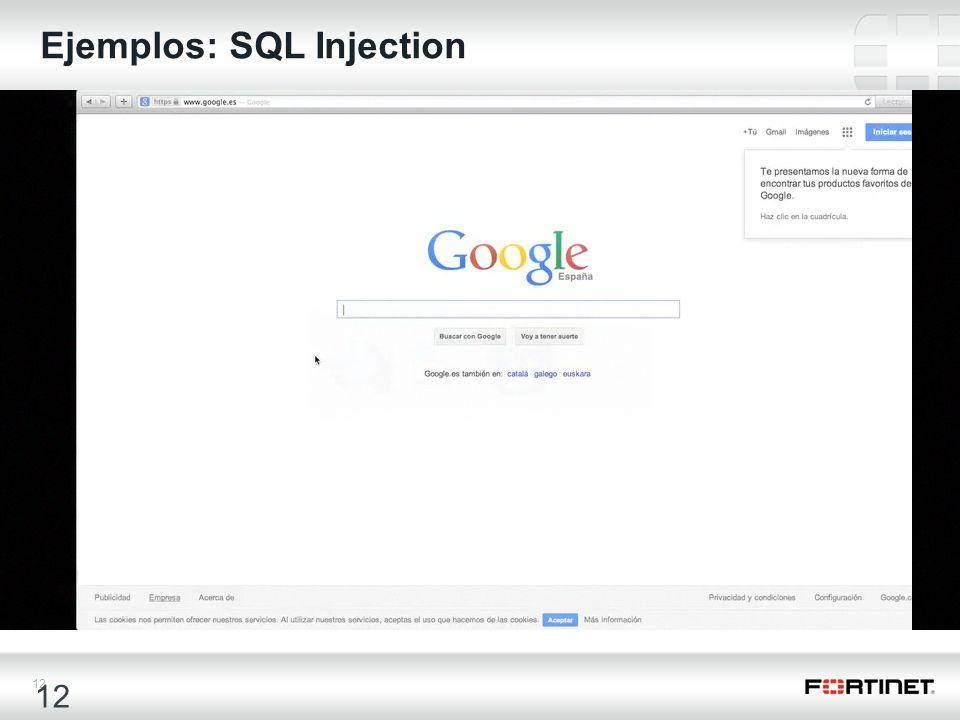 Ejemplos: SQL Injection