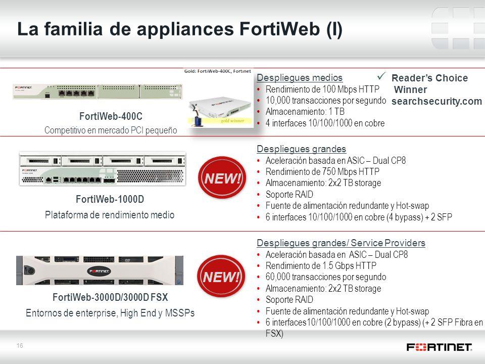 La familia de appliances FortiWeb (I)