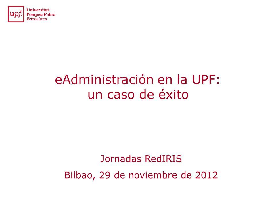 eAdministración en la UPF: un caso de éxito
