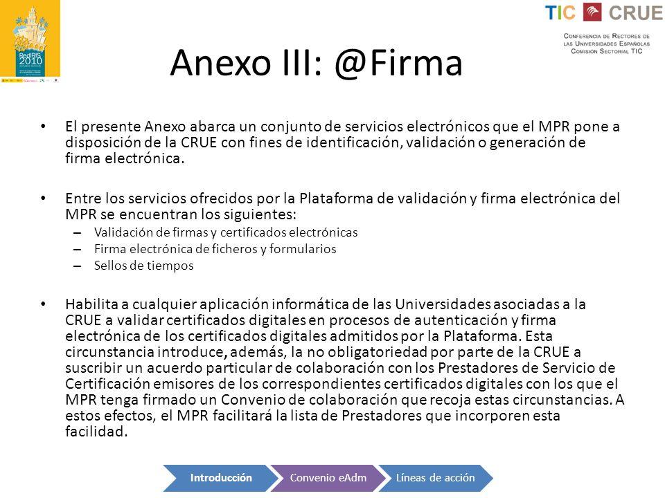Anexo III: @Firma