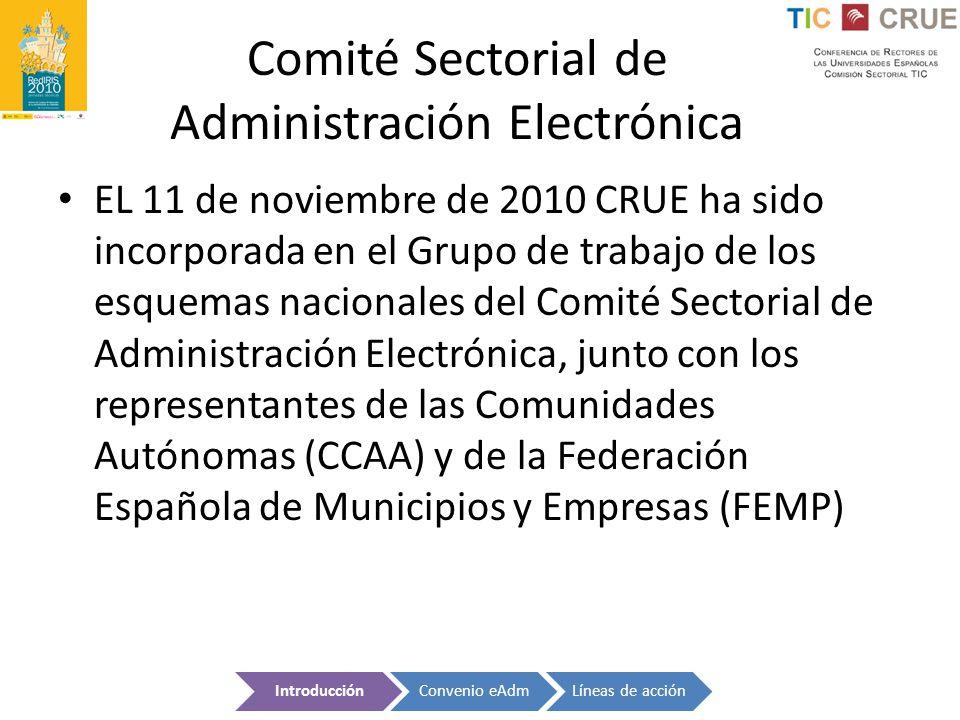Comité Sectorial de Administración Electrónica
