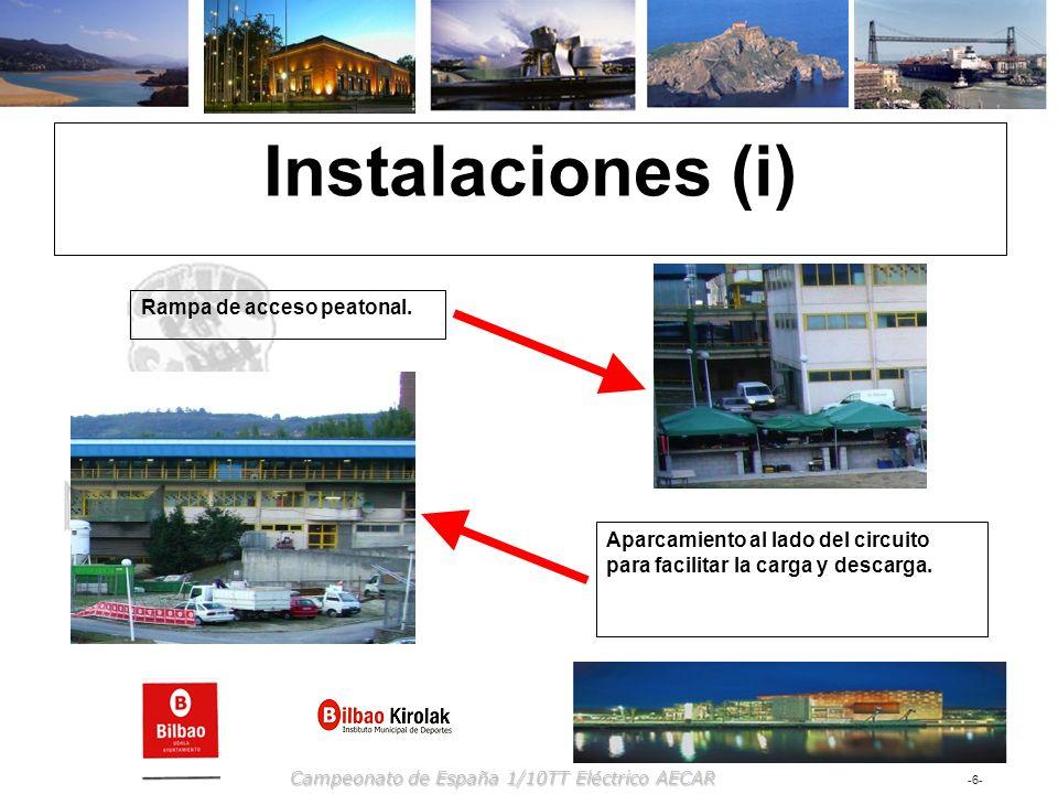 Instalaciones (i) Rampa de acceso peatonal.