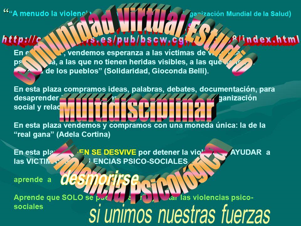 Comunidad Virtual Estudio Multidisciplinar Violencia Psicológica