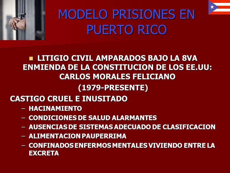 MODELO PRISIONES EN PUERTO RICO