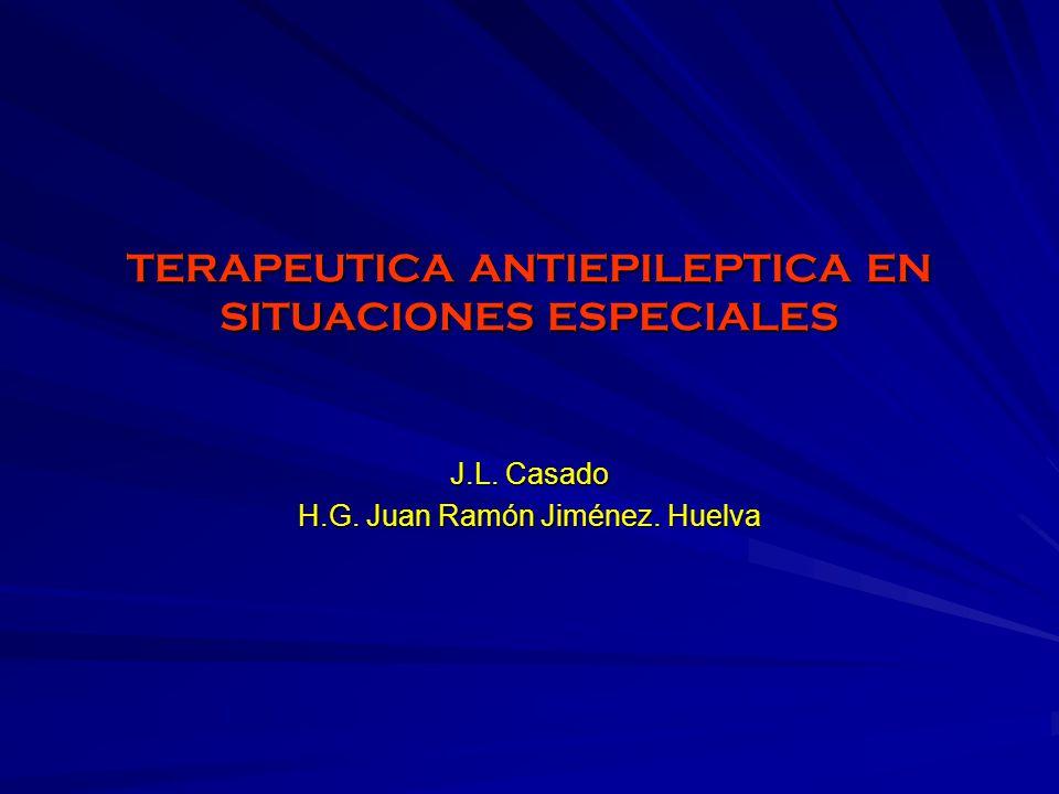 TERAPEUTICA ANTIEPILEPTICA EN SITUACIONES ESPECIALES