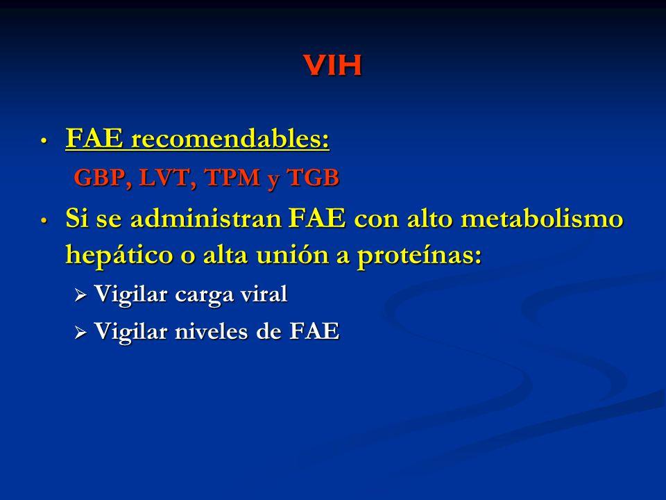 VIH FAE recomendables: