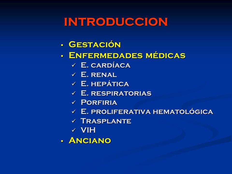 INTRODUCCION Gestación Enfermedades médicas Anciano E. cardíaca