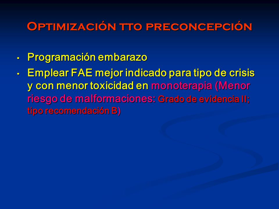 Optimización tto preconcepción