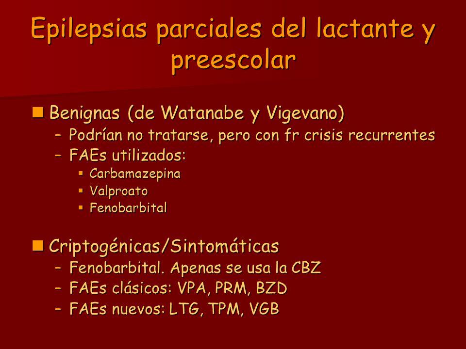 Epilepsias parciales del lactante y preescolar