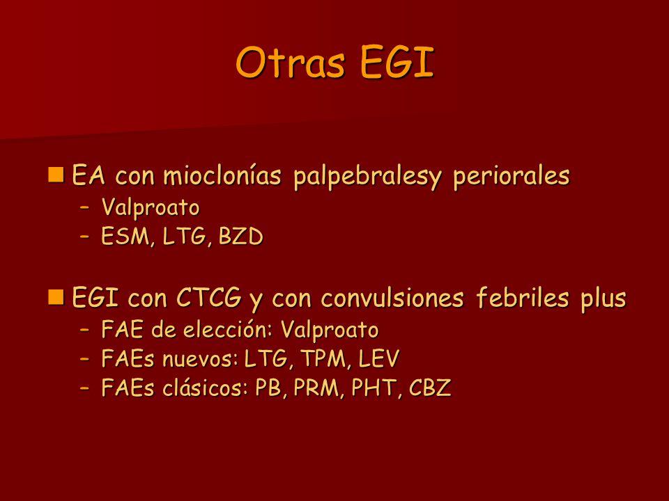 Otras EGI EA con mioclonías palpebralesy periorales