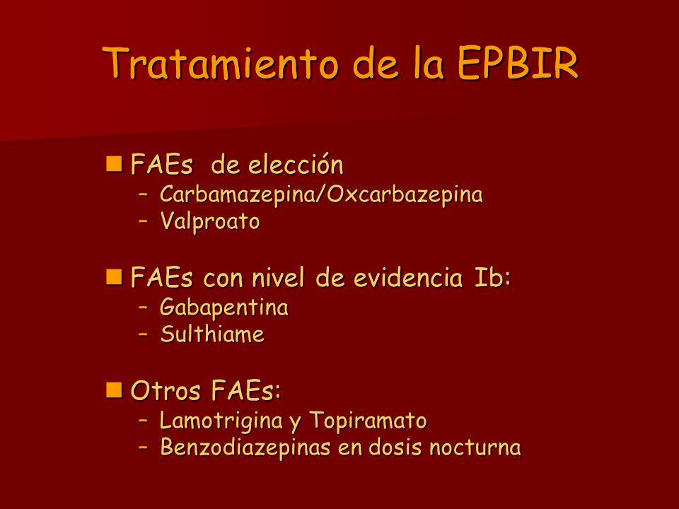Tratamiento de la EPBIR