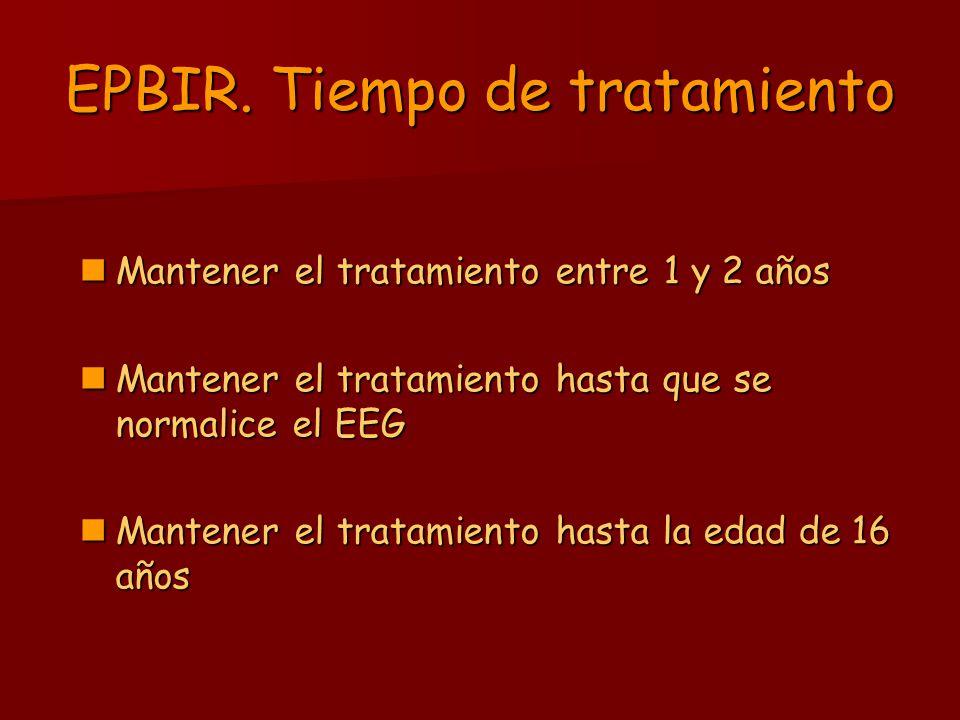 EPBIR. Tiempo de tratamiento
